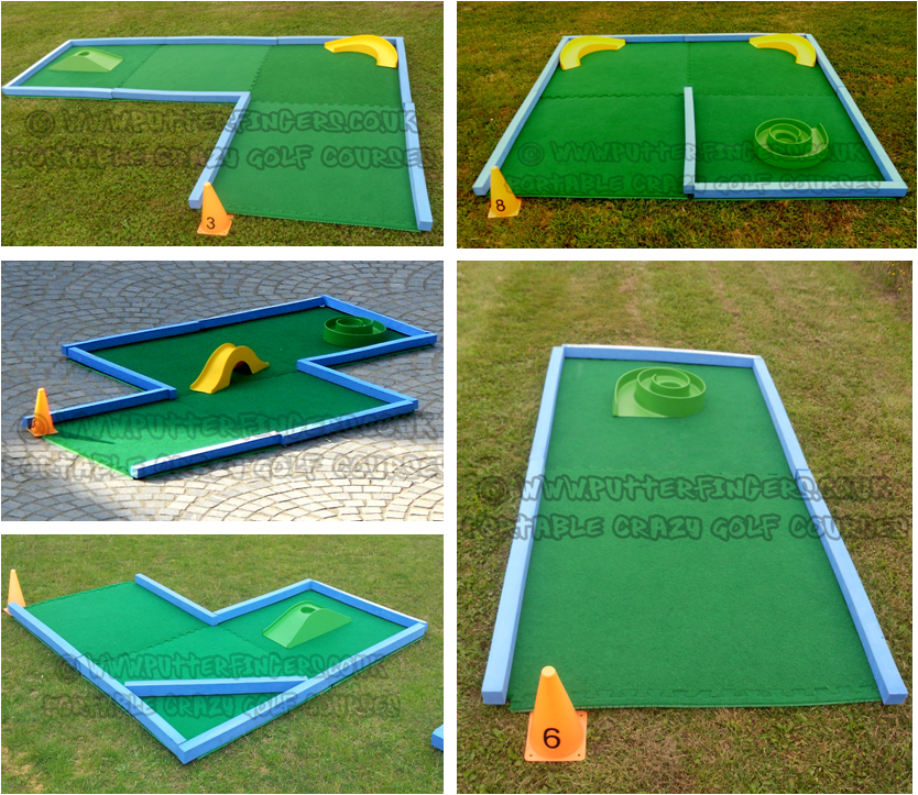 Create minigolf putting green tiles