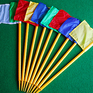 minigolf accessories, corner flags
