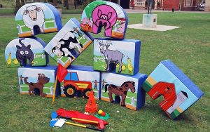 minigolf accessories, soft golf, farmyarn animals, kids minigolf, birthday parties