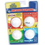 Novelty golf balls, minigolf accessories