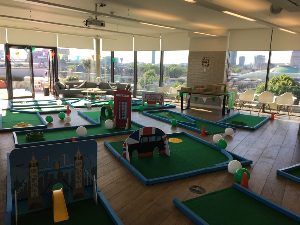 Office crazy golf
