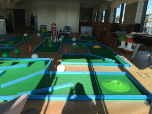 Office party fun crazy golf