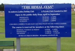 The HHimalayas St Endrews Ladies Putting Club