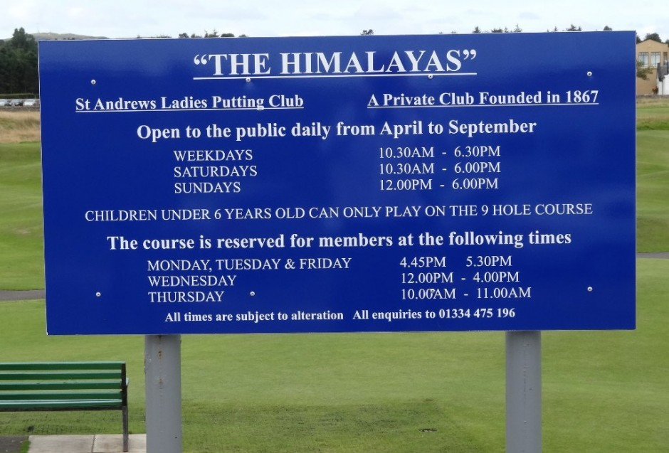 The Himalayas St Andrews Ladies Putting Club
