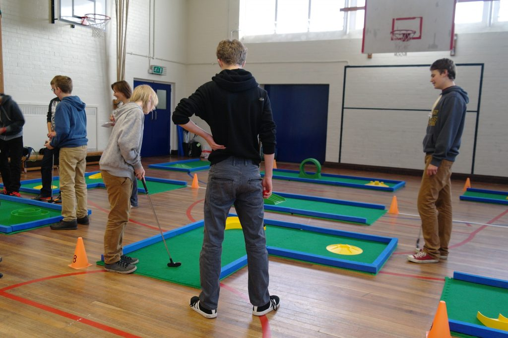 school mini golf events