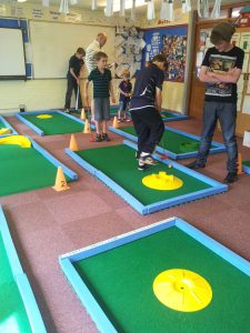events with crazy golf