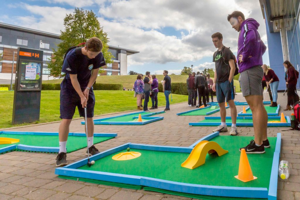 freshers' week crazy golf hire