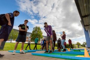 freshers week minigolf crazy golf