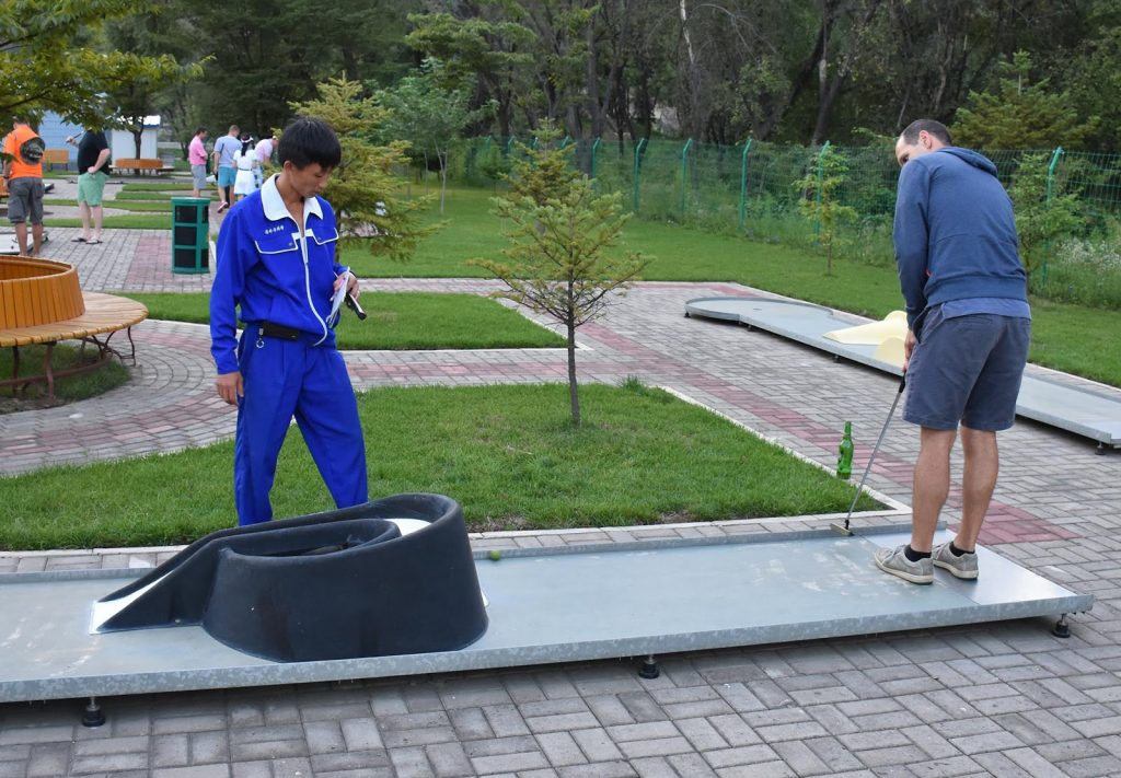 Minigolf in North Korea