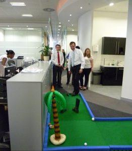 Office perks, incentives, minigolf, crazygolf