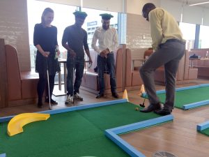 Office games perks teambuilding crazy golf