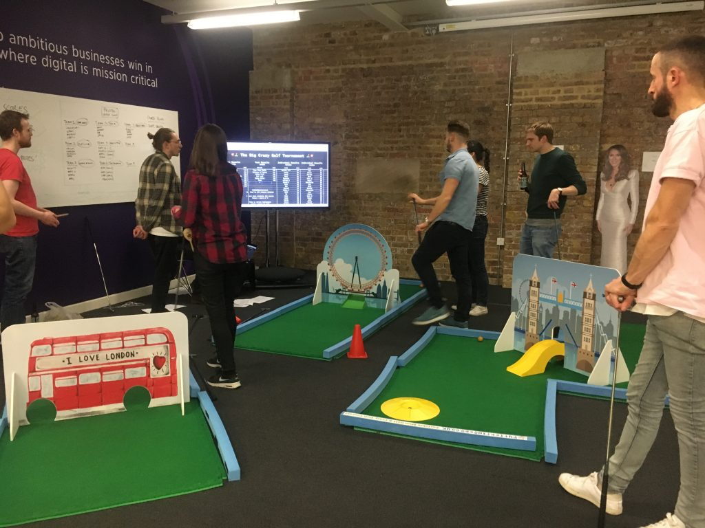 events where minigolf is a good hire choice
