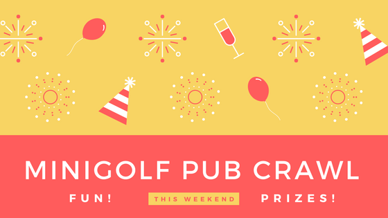crazy golf pub crawl