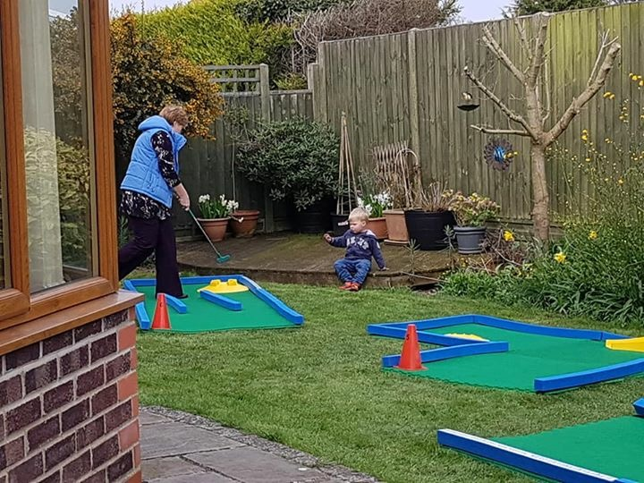 Crazy golf granddad minigolf surprise