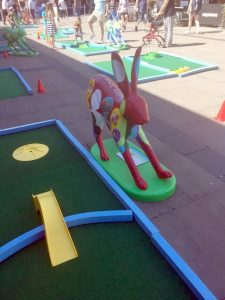 Minigolf break charity Norwich