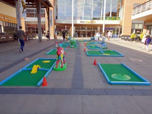 Crazy golf charity fundraising