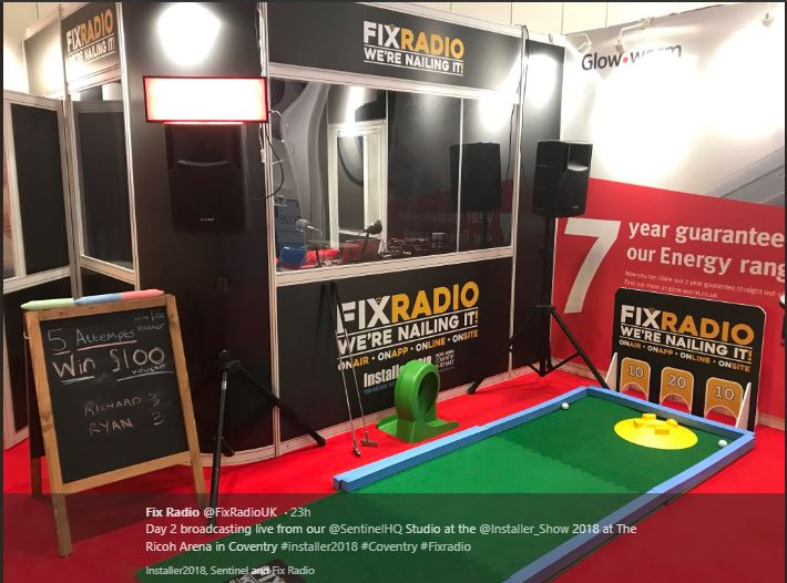 Challenge Putt branded for trade shows