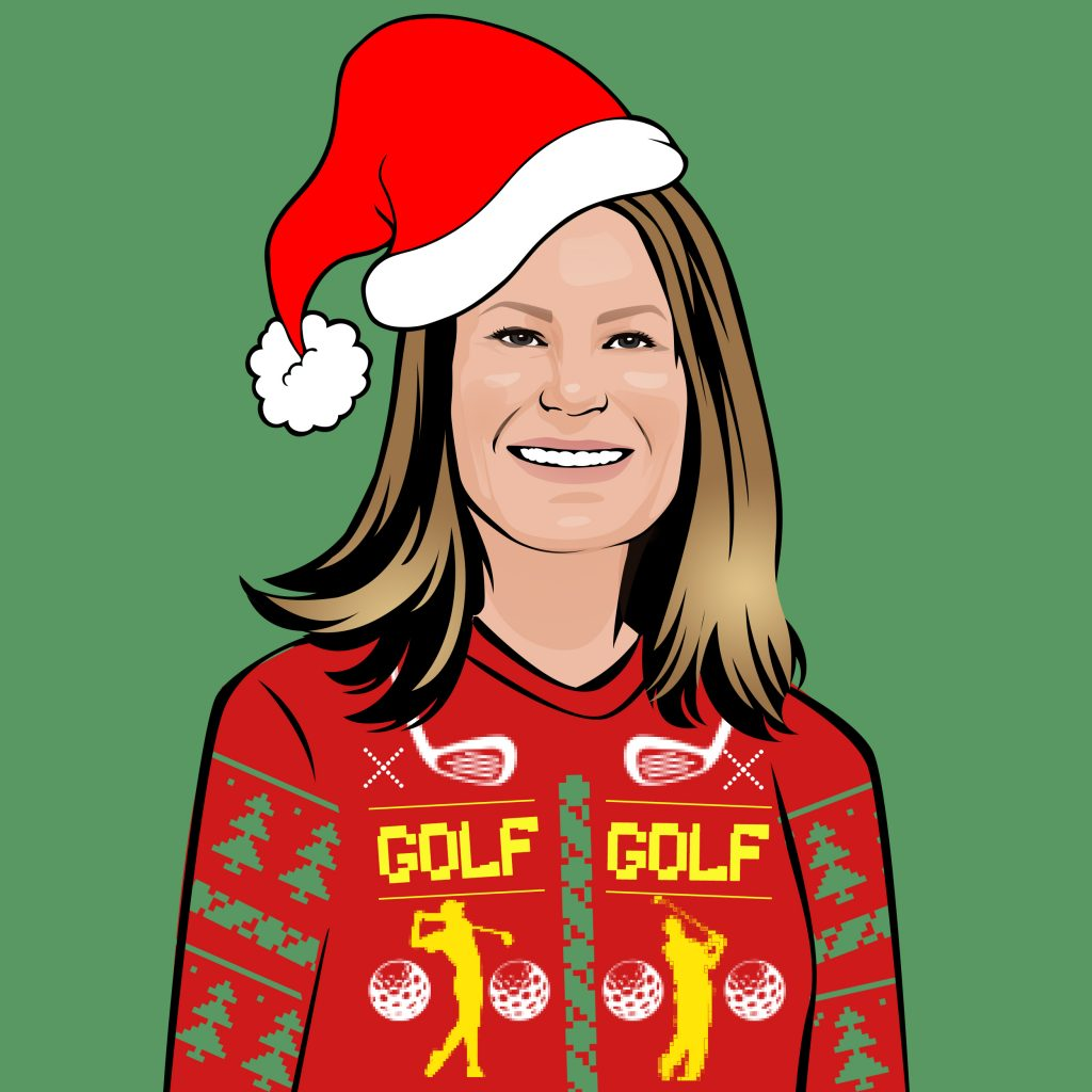 Christmas golf sweater