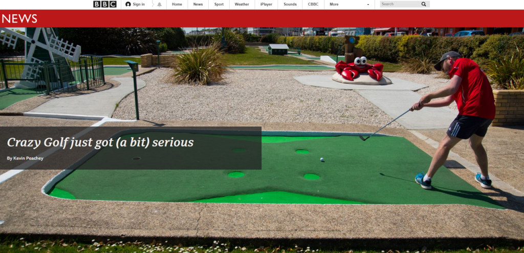 BBC article_Crazy golf just got serious