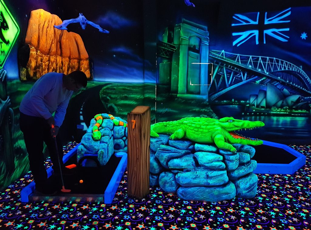 Glo-Golf at the Riverside Bowl, Andover