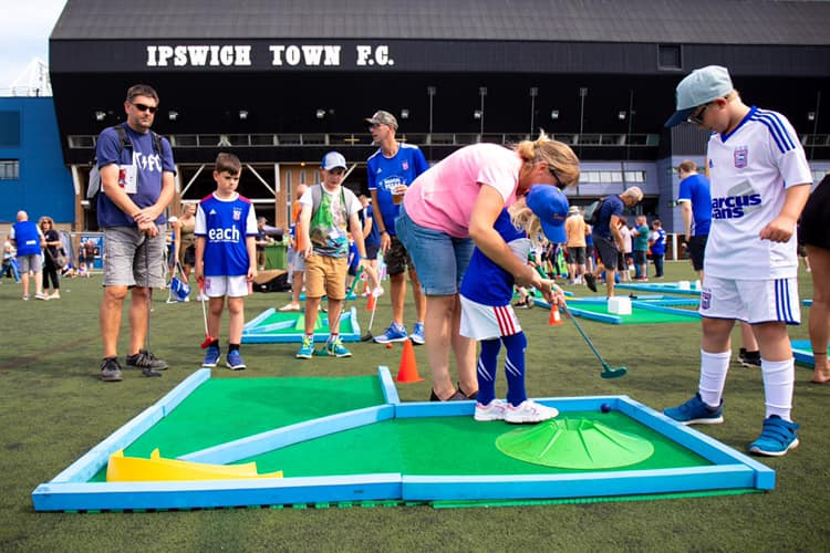 Crazy Golf at Ipswich Town Fanzone