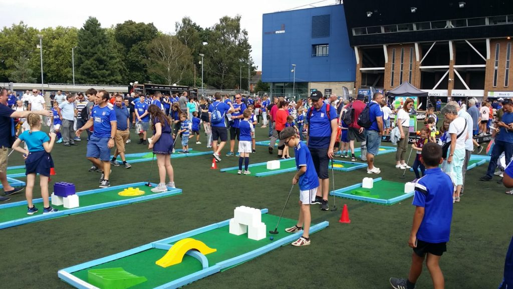 Mini golf outdoors at ITFC Fanzone