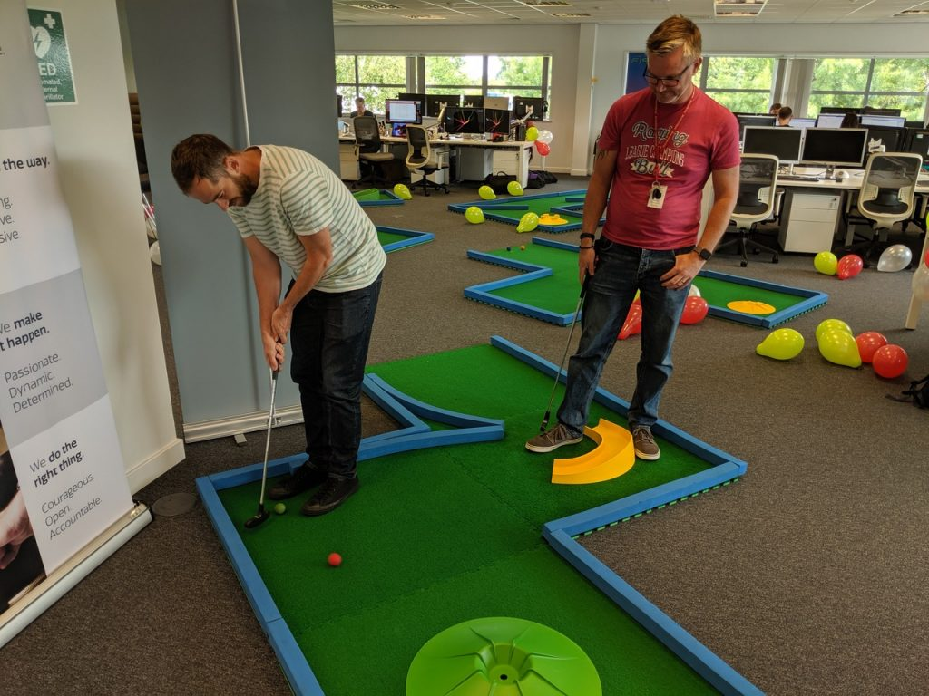 Worldpay_FIS office mini golf