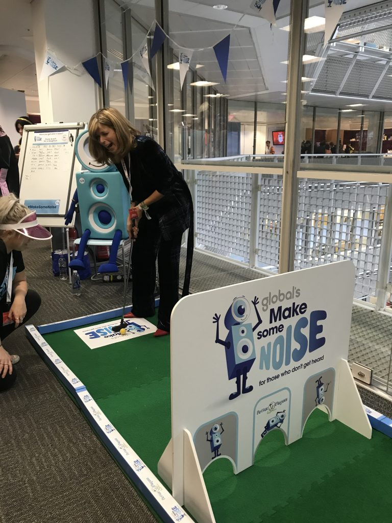 Mini golf for fundraising_Make Some Noise_Kate Garraway