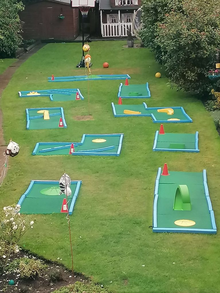 Birthday party crazy golf