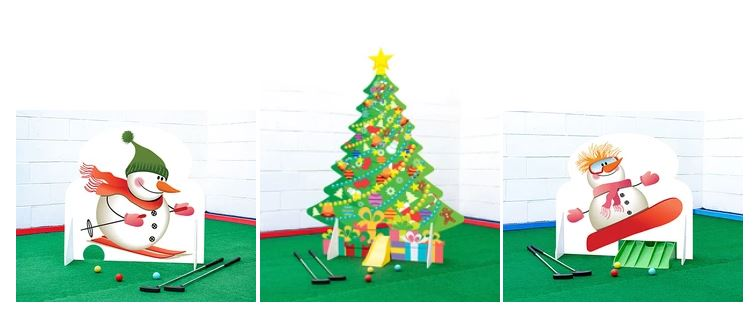 Christmas minigolf hire UK