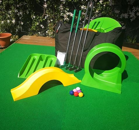 Home mini golf obstacles
