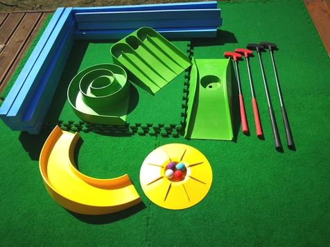 Mini golf family home set
