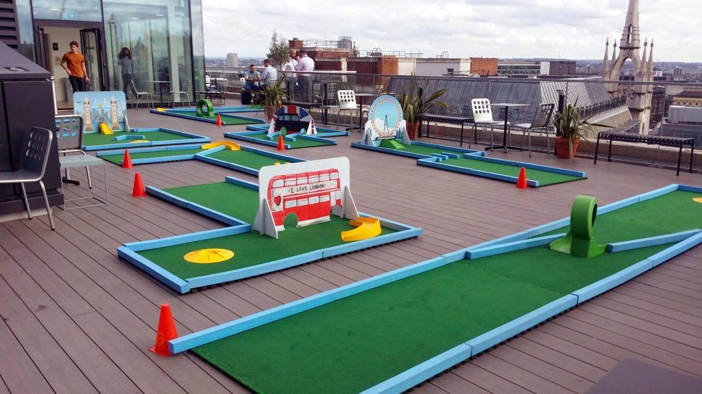 Crazy golf hire corporate fun days