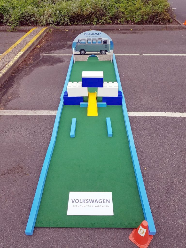 Branded mini golf corporate hire for employees