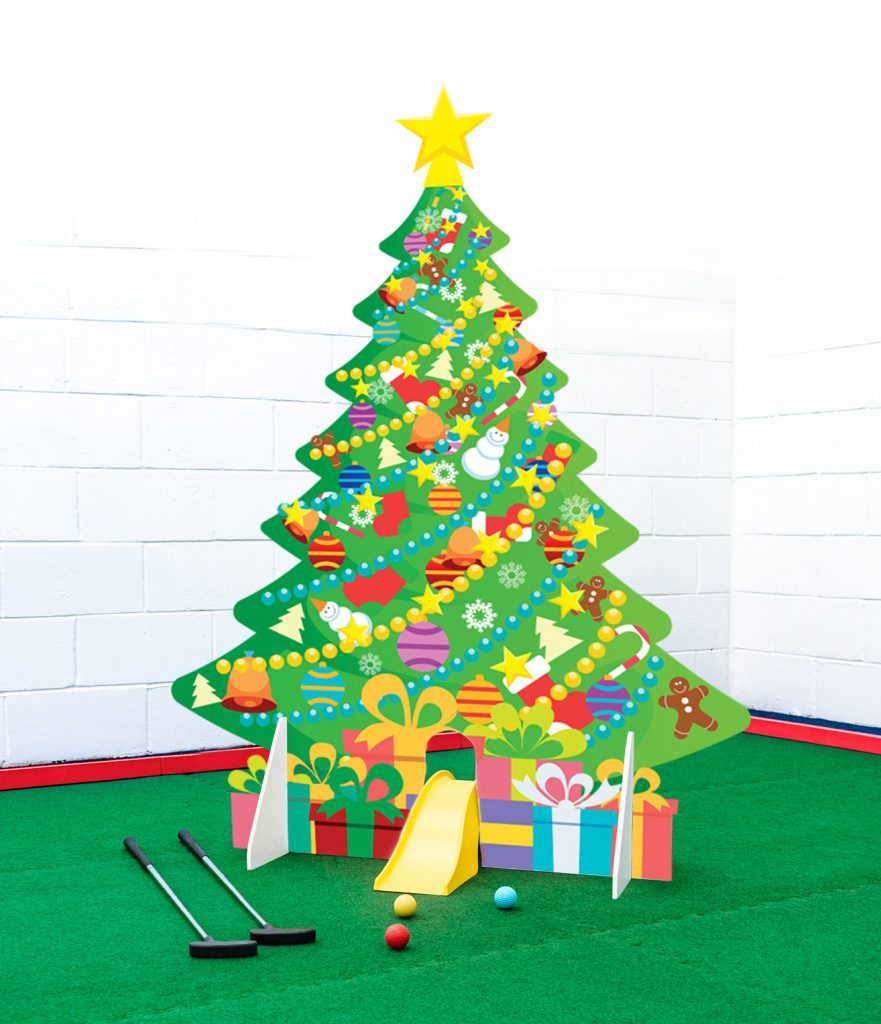 Mini golf obstacle christmas ttee