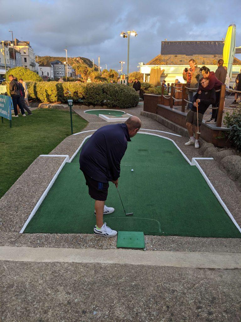 Crazy golf tournament