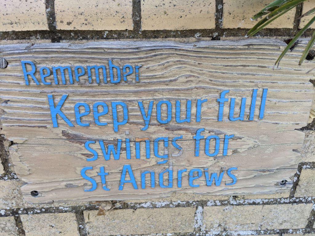 St Andrews mini golf