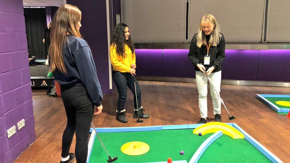 UEA Freshers Week crazy golf