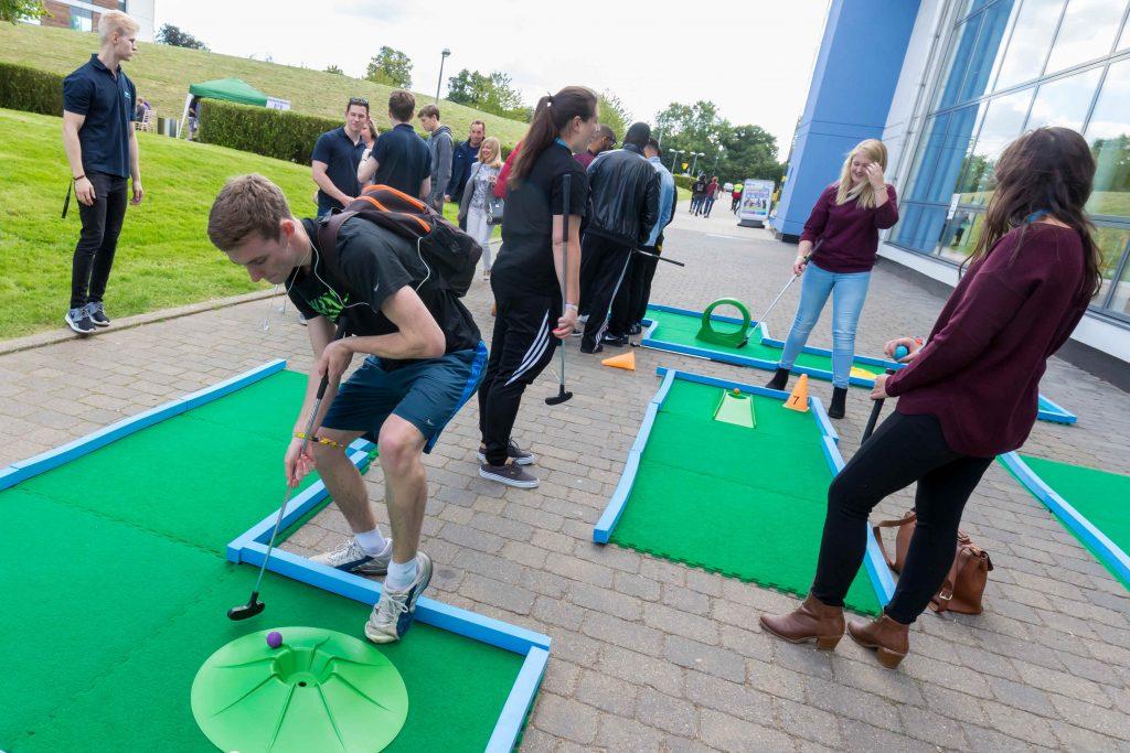 University of Hertfordshire crazy golf freshers week